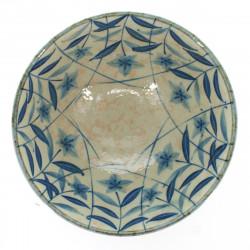 bol traditionnel japonais avec motifs bleus pour tout type de râmen ou tsukemen
