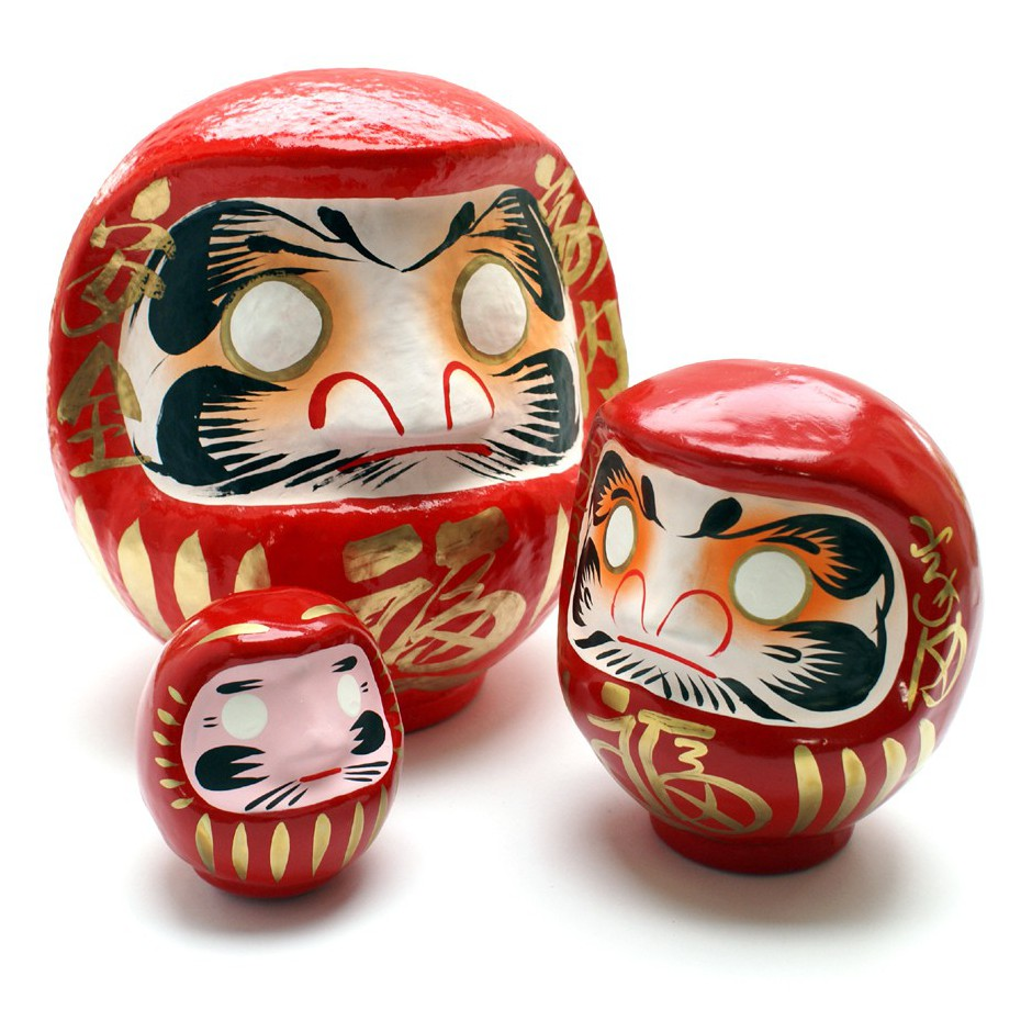 japanese doll, DARUMA, red