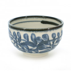 bowl with blue patterns white KARAKUSA