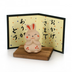 Japanese small ornament with thank you message, ARIGATÔ USAGI, rabbit