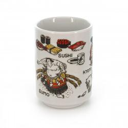 taza de té japonés, JAPAN, dibujos