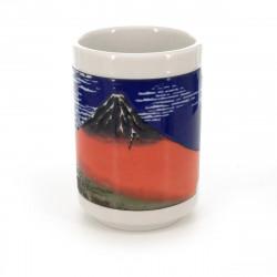 taza de té japonés, AKAFUJI, dibujos de mont fuji