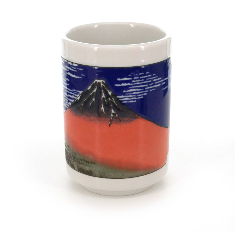 teacup with pictures fujisan white AKAFUJI