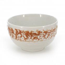 bol japonais à soupe en céramique blanc orangé - shirakaba