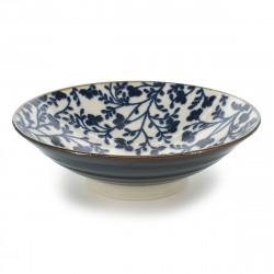bol japonais à ramen, HANA, fleurs bleues