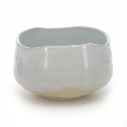 Japanese tea bowl for ceremony - chawan, SHIRO KOHIKI, white