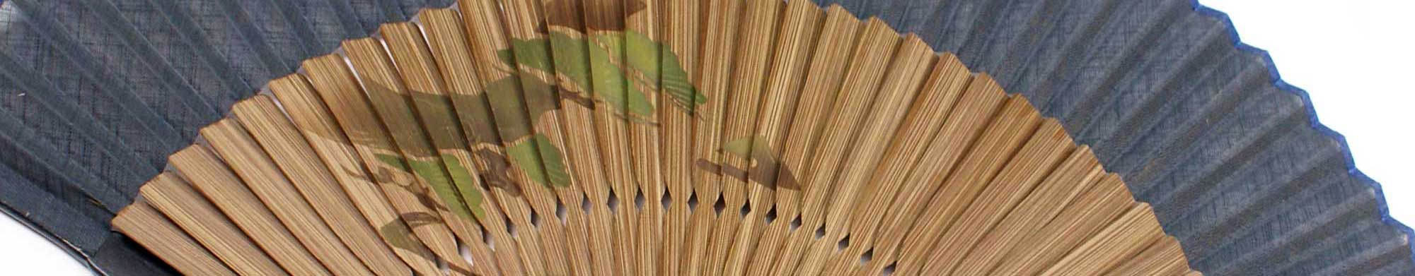 Japanese fans paper and bamboo