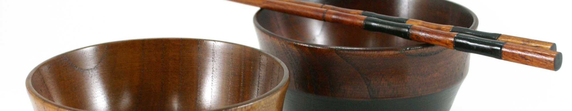 Japanese miso wooden soup bowls made in Japan